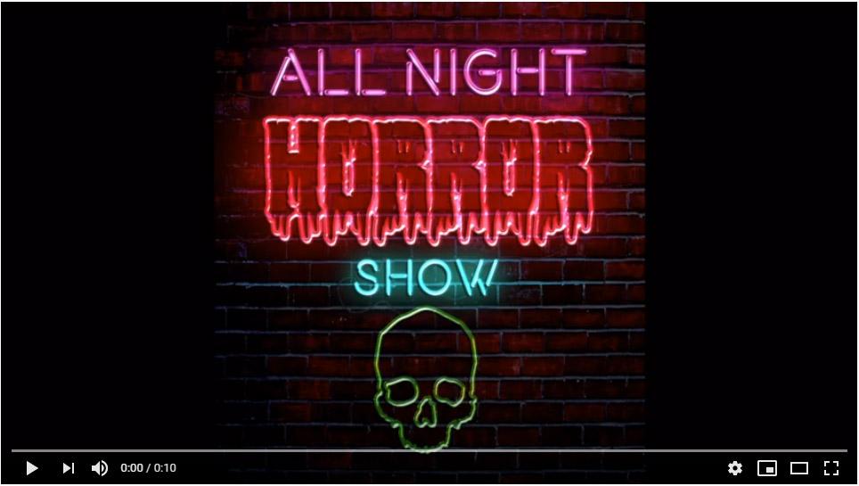 All Night Horror Show Book Trailer